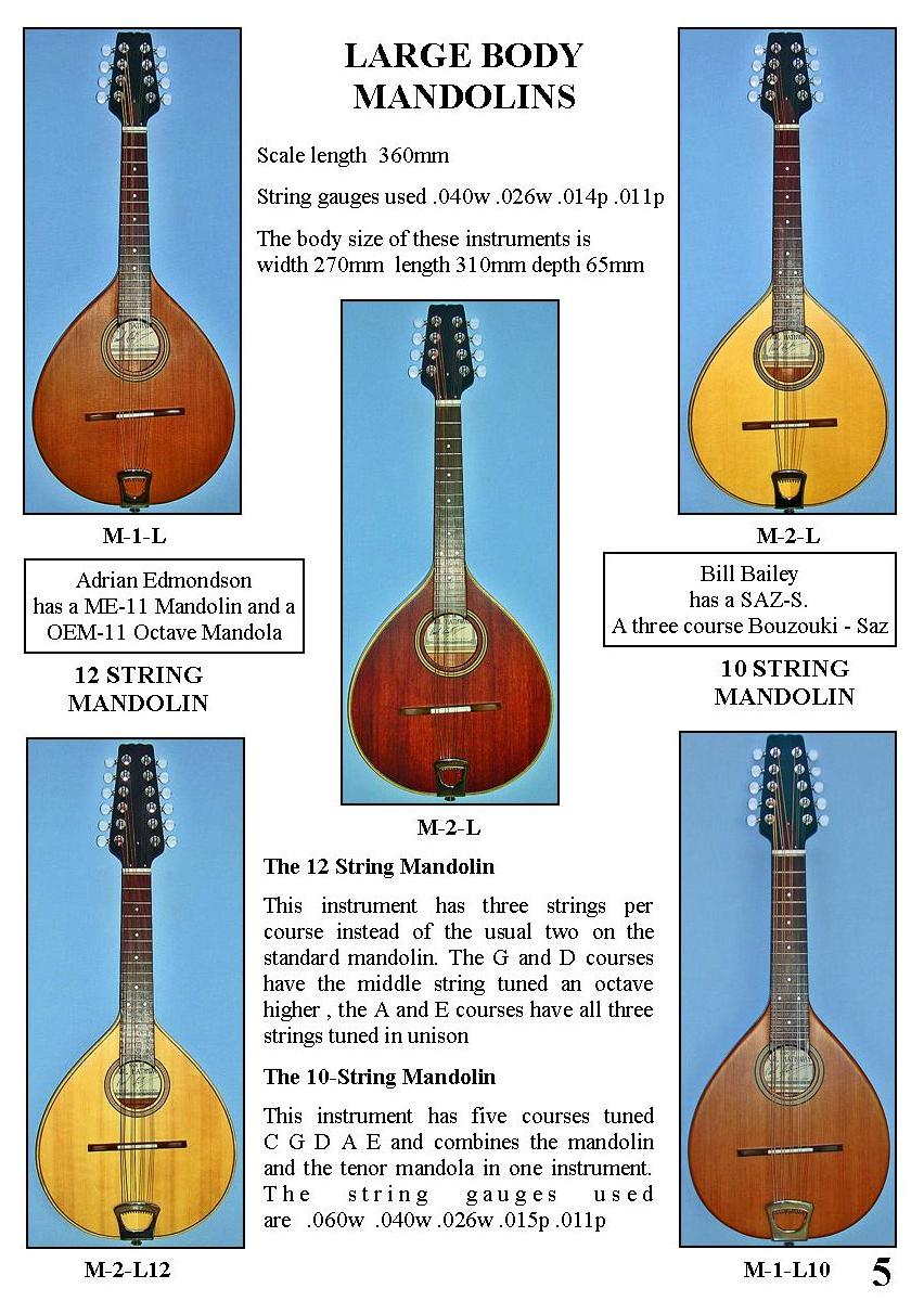 Large Body Mandolins (3)